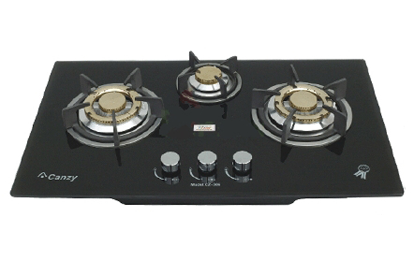 Bếp gas âm 3 lò nấu Canzy CZ-306